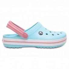 "Кроксы Crocs Crocband Ice ""Blue/White"""