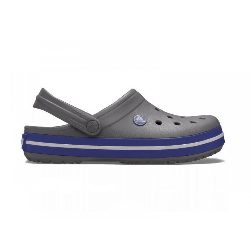 """Кроксы Crocs Crocband """"Dark Charcoal/Ocean"""" (Темно-серый, Синий)"""