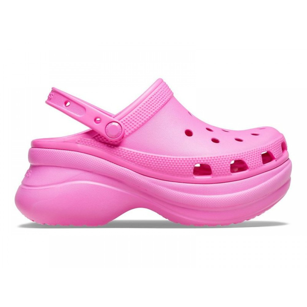 """Кроксы на платформе Crocs Classic Bae Clog """"Crimson"""" (Малиновый)"""