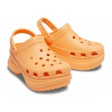 "Кроксы на платформе Crocs Classic Bae Clog ""Orange"""