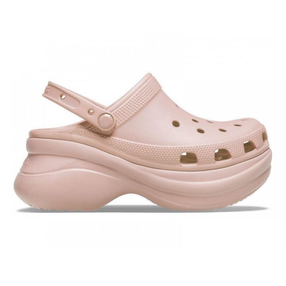 "Кроксы на платформе Crocs Classic Bae Clog ""Powdery"" (Пудровый)"