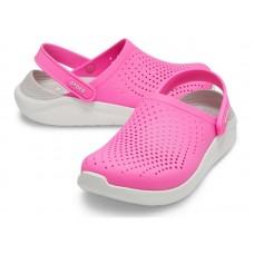 "Сабо Кроксы Crocs LiteRide™ Clog ""Crimson/Grey/White"""