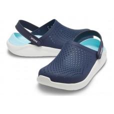 "Сабо Кроксы Crocs LiteRide™ Clog ""Navy/Light Blue"""