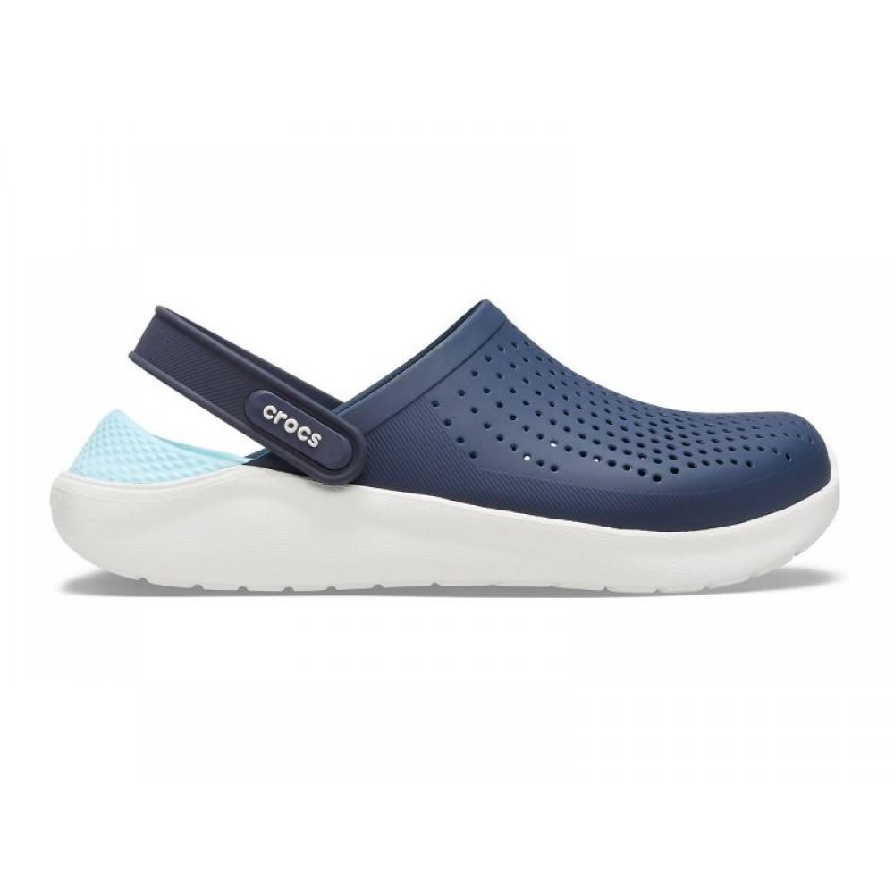 """Сабо Кроксы Crocs LiteRide™ Clog """"Navy/Light Blue"""" (Синий, Светло-голубой)"""
