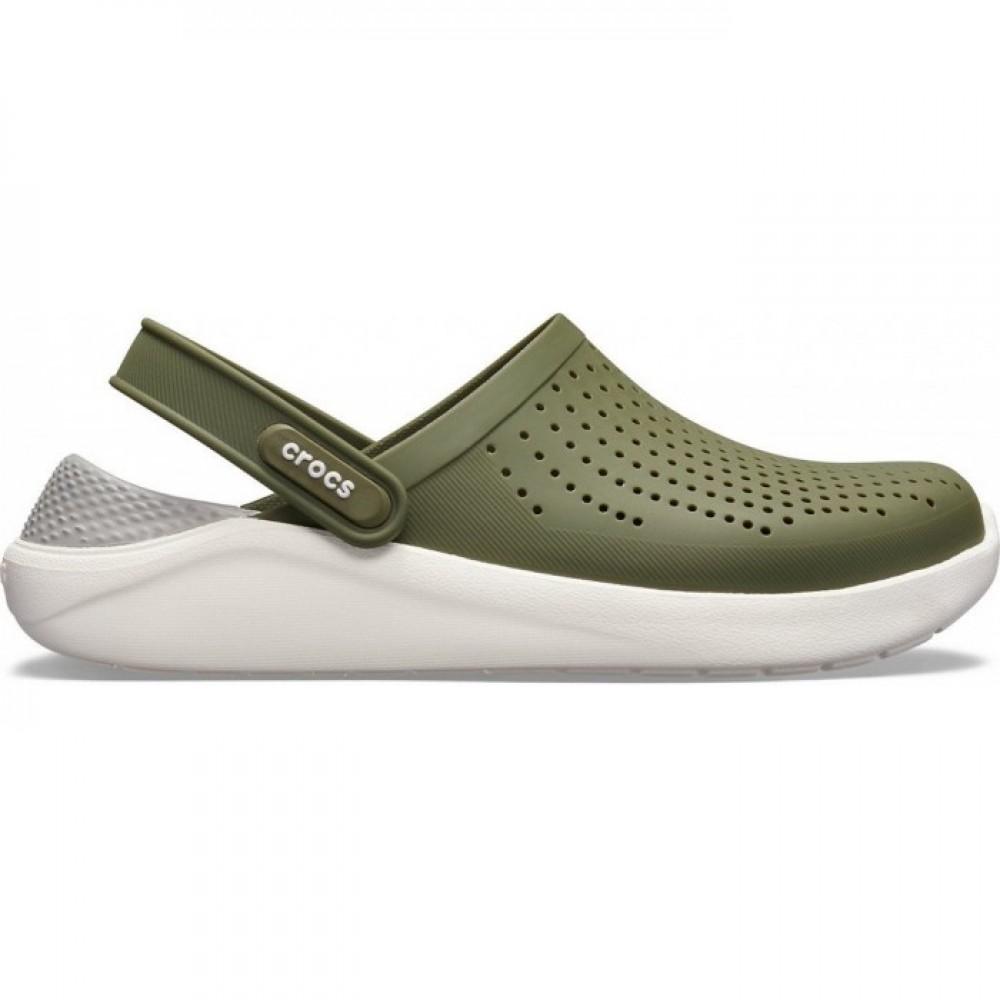 """Сабо Кроксы Crocs LiteRide™ Clog Army """"White/Khaki"""" (Хаки)"""