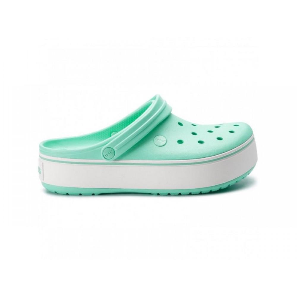 """Сабо Кроксы Crocs Platform """"Mint/White"""" (Мятный)"""