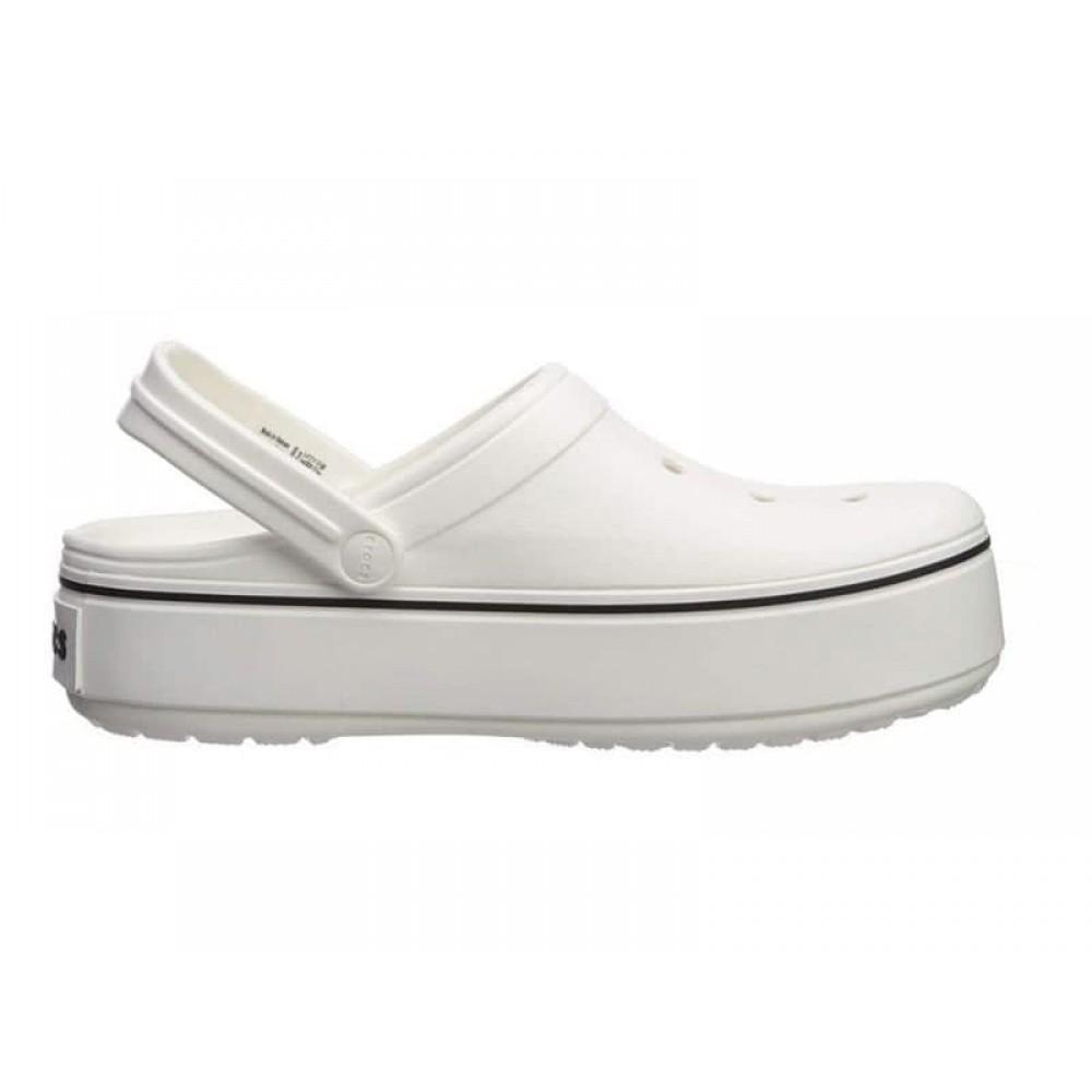 "Сабо Кроксы Crocs Platform ""White"" (Белый)"