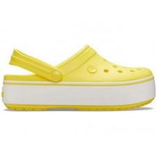 """Сабо Кроксы Crocs Platform """"Yellow"""""""